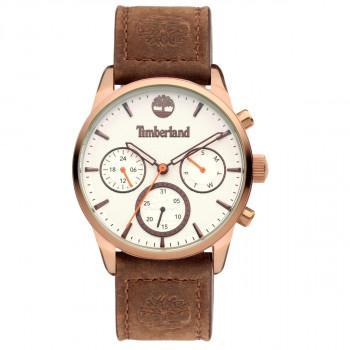 TIMBERLAND HENNIKER III - TDWLF2101904,  Rose Gold case with Brown Leather strap