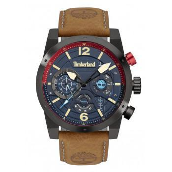 TIMBERLAND  HOLYOKE - TDWGF2100003,  Black case with Brown Leather strap