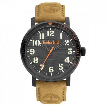 TIMBERLAND TOPSMEAD - TDWGA2101601,  Black case with Brown Leather strap