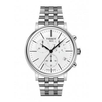 TISSOT Carson Chronograph - T1224171101100  Silver case  with Stainless Steel Bracelet