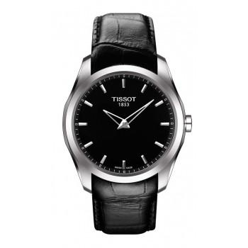 TISSOT Couturier Grande Date - T0354461605100 Silver case,with Black Leather Strap