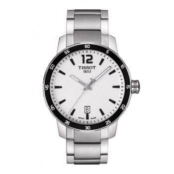 TISSOT Quickster Gent - T0954101103700 Silver Black case, with Stainless Steel Bracelet