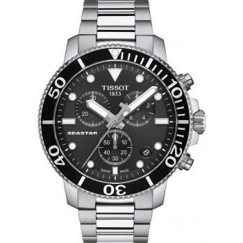 TISSOT Seastar 1000 Chronograph- T1204171105100  Silver case  with Stainless Steel Bracelet