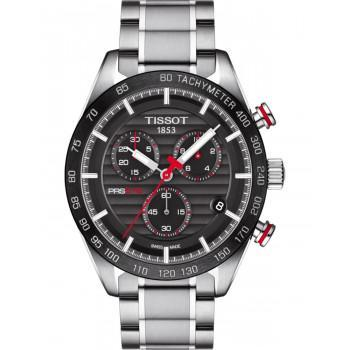 TISSOT Sport PRS516  Chronograph - T1004171105101  Silver case  with Stainless Steel Bracelet