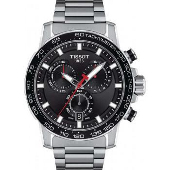 TISSOT Supersport Chronograph - T1256171105100  Silver case  with Stainless Steel Bracelet