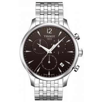 TISSOT T-Classic Tradition Chrono - T0636171106700 Silver case, with Stainless Steel Bracelet