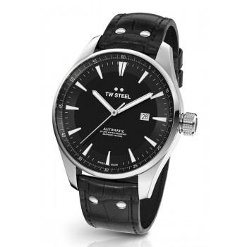 TW STEEL ACE Aternus L.E. Automatic - ACE321  Silver case with Black Leather Strap