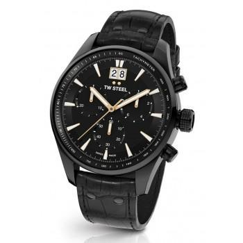 TW STEEL ACE Aternus L.E. Chronograph - ACE304,  Black case with Black Leather Strap