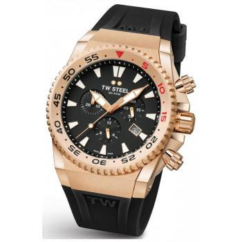 TW STEEL Ace Diver Limited Edition  Chronograph - ACE403,  Rose Gold case with Black Rubber Strap