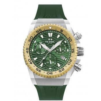 TW STEEL ACE Diver Swiss Made Limited Edition - ACE411  Gold case with Green Rubber Strap