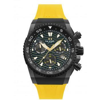 TW STEEL ACE Diver Swiss Made Limited Edition - ACE414  Black case with Yellow Rubber Strap