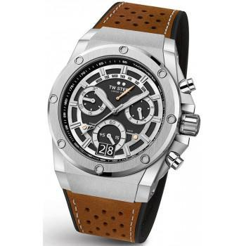 TW STEEL ACE Genesis Swiss Made Limited Edition - ACE120  Silver case with Brown Leather-Rubber Strap