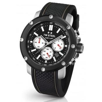 TW STEEL Simeon Panda Limited Edition Chronograph - TS11,  Silver case with Black Rubber Strap