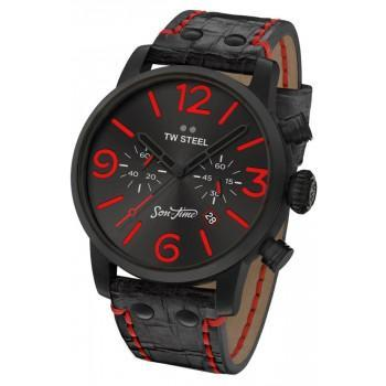 TW STEEL Son Of Time Desperado Chronograph - MST13,  Black case with Black Leather Strap