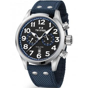 TW STEEL Volante  - VS38, Silver case with Blue Fabric Strap