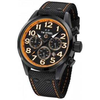 TW STEEL GCK Rallycross Special Edition Chronograph - TW981,  Black case with Black Fabric Strapt