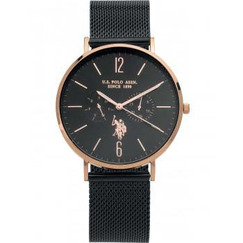 U.S. POLO Attitude - USP4584BK,  Rose Gold case with Stainless Steel Bracelet