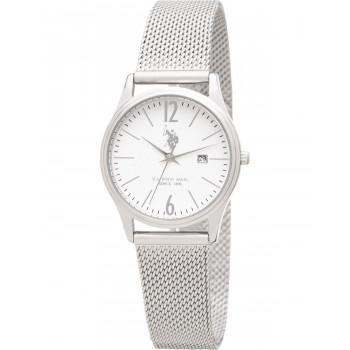 U.S. POLO Blake - USP5984WH , Silver case with Stainless Steel Bracelet