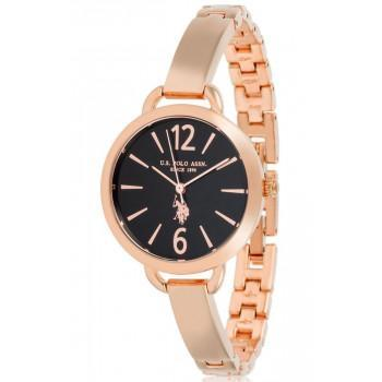 U.S. POLO Charlotte - USP5876RG , Rose Gold case with Stainless Steel Bracelet