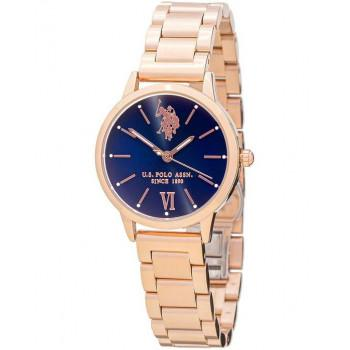 U.S. POLO Evelyn - USP5893BL , Rose Gold case with Stainless Steel Bracelet