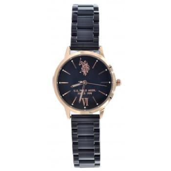 U.S. POLO Evelyn - USP5895BK, Rose Gold case with Stainless Steel Bracelet