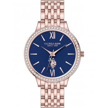 U.S. POLO Faith Crystals - USP5970RG , Rose Gold case with Stainless Steel Bracelet