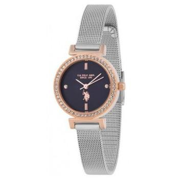 U.S. POLO Ladies Crystals  - USP5924BL , Rose Gold case with Stainless Steel Bracelet