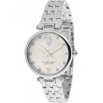 U.S. POLO Margot Crystals - USP5978ST , Silver case with Stainless Steel Bracelet