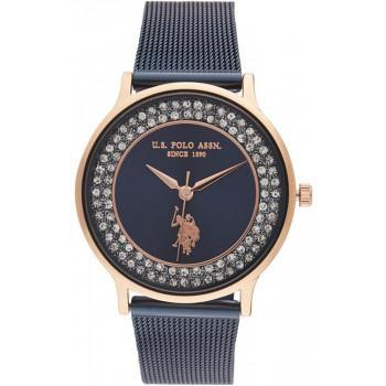 U.S. POLO Michelle Crystals  - USP5803BL, Rose Gold case with Stainless Steel Bracelet
