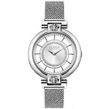 VERSACE Versus Crystals Ladies - VSP1H0521,  Silver case with Stainless Steel Bracelet