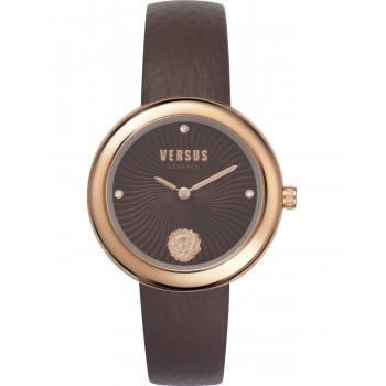 VERSACE  Versus Lea Crystals  - VSPEN0319,  Rose Gold case with Brown Leather Strap