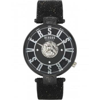 VERSACE  Versus Lodovica VSPVS0420,   Black case with Black Leather Strap