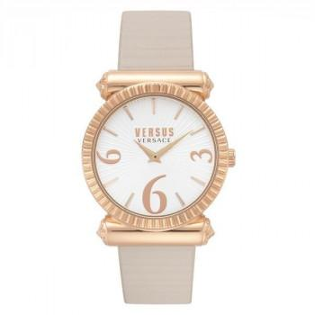 VERSACE Versus République   - VSP1V0519,  Rose Gold case with Grey Leather Strap