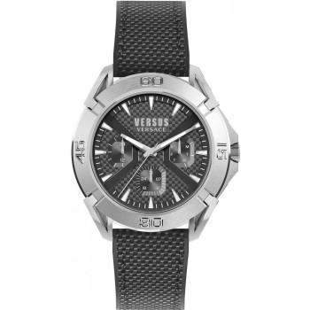 VERSACE Versus Urban Generation - VSP1W0219, Silver case with Black Leather Strap