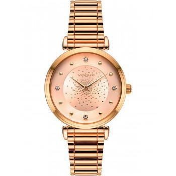 VOGUE Bind Crystals - 610252  Rose Gold case with Stainless Steel Bracelet