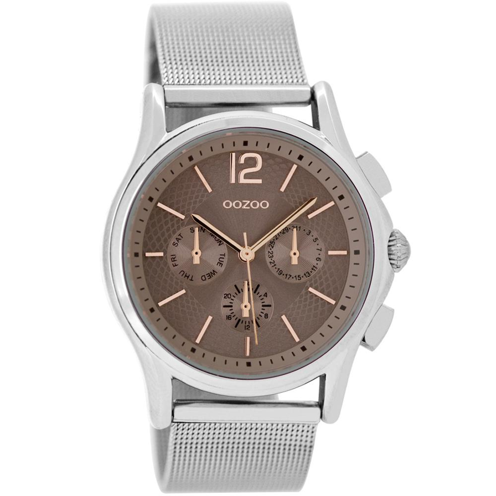 OOZOO Timepieces - C9107 , Silver case with Metal Bracelet