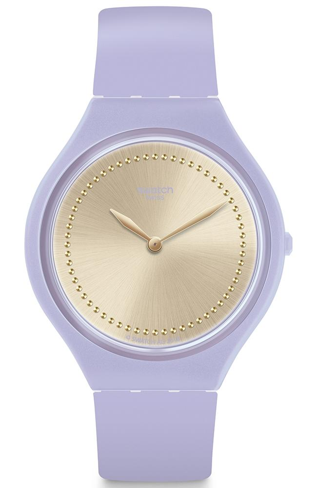 SWATCH Skinlavande - SVOV100, Purple case with Purple Rubber Strap