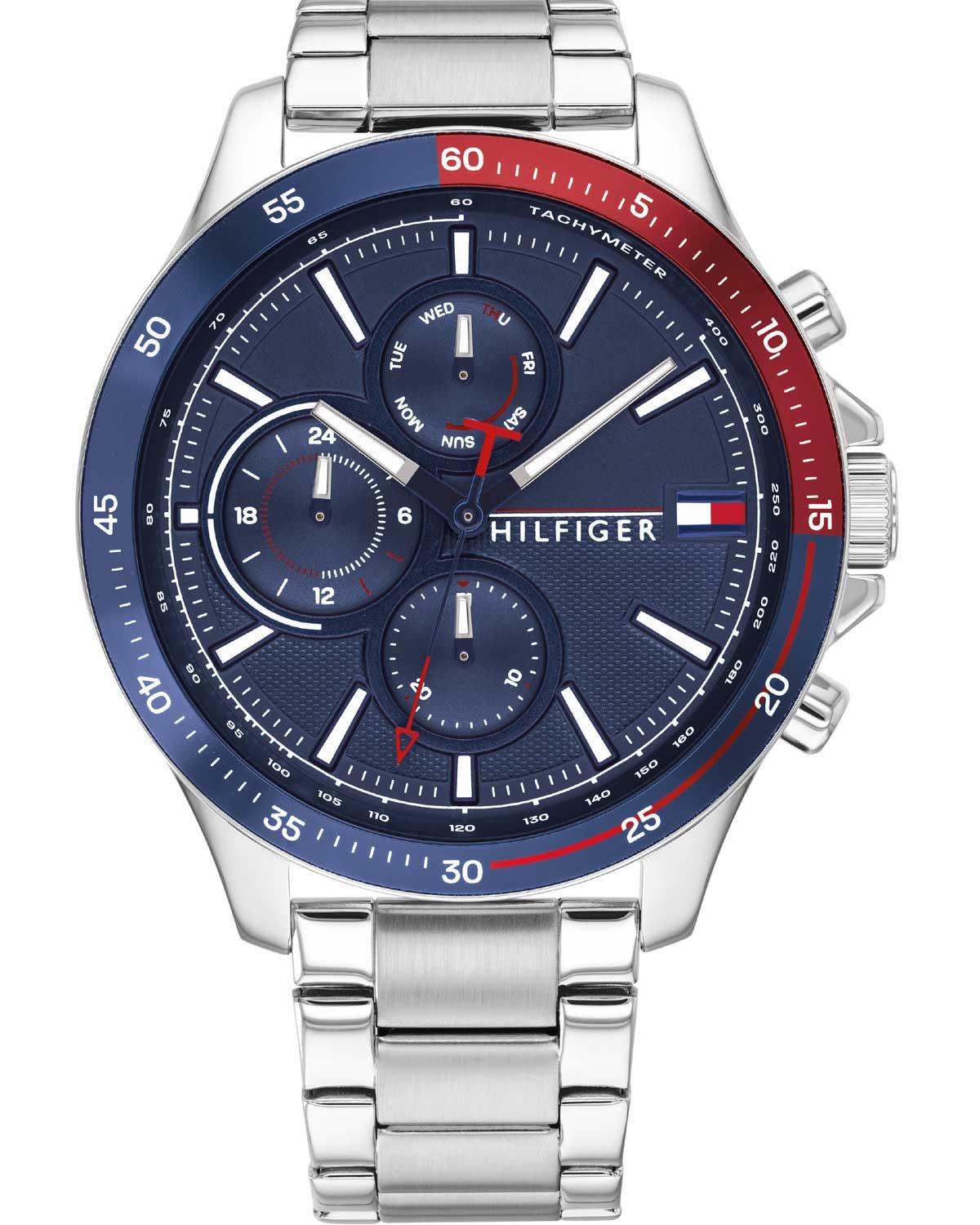 TOMMY HILFIGER Bank - 1791718, Silver case with Stainless Steel Bracelet